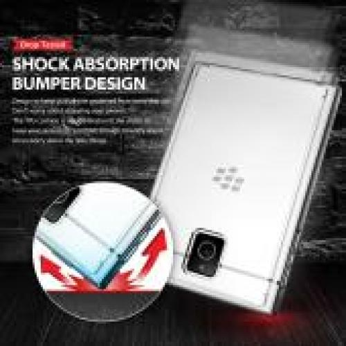 [Blackberry Passport] Bumper Case by Ringke [Clear] Fusion Shock Absorption TPU Bumper w/ Clear Hard Polycarbonate Back + HD Screen Protector