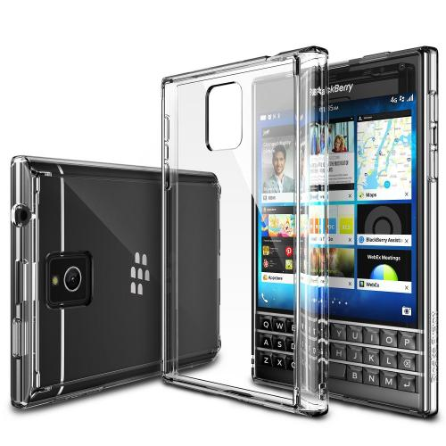 Blackberry Passport Bumper Case by Ringke [Clear View] Fusion Shock Absorption TPU Bumper w/ Clear Hard Polycarbonate Back + HD Screen Protector