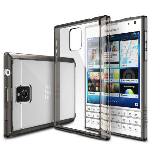 Passport Case, Ringke [Smoke Black] FUSION Bumper Case [Free HD Screen Protector] - Shock Absorption TPU Bumper Case with Crystal Clear Hard Polycarbonate Back for Blackberry Passport - Retail Packaging
