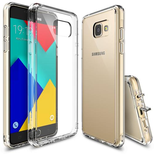 Samsung Galaxy A9 Case, Ringke [Crystal View] FUSION Series Absorb Shock TPU Bumper Clear Case w/ Free Screen Protector