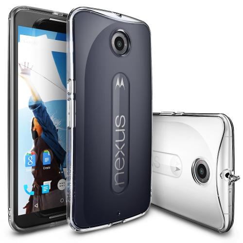 Nexus 6 Case by Ringke | Fusion **new** [Dust Cap/Drop Protection][Clear View] Shock Absorption Bumper Premium Hard Case - Eco/DIY Package