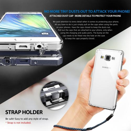 Galaxy A3 Fusion Bumper Case by Ringke [Clear] Featuring Shock Absorption TPU Bumper with Clear-View Hard Polycarbonate Back & Screen Protector