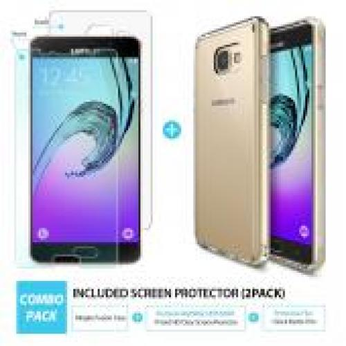 Samsung Galaxy A5 2016 Case, Ringke [Rose Gold Crystal] FUSION Series Absorb Shock TPU Bumper Clear Case