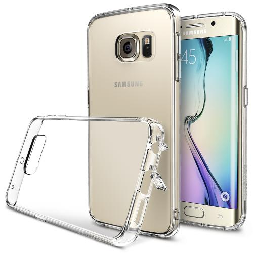 Galaxy S6 Edge Case by Ringke | Fusion [Shock Absorption][Crystal View] Crystal Back W/ Flexible Border Case [+Free Screen Protector]