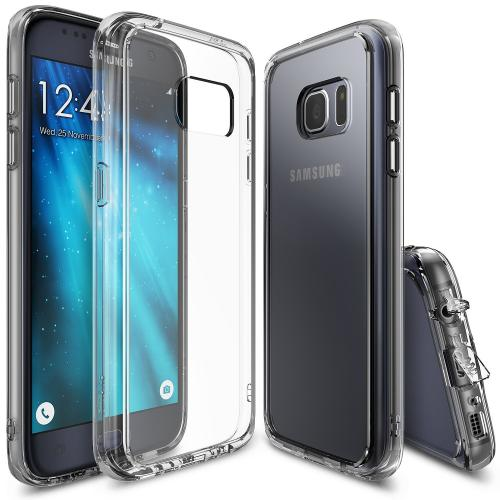 Samsung Galaxy S7 Case, Ringke [Clear View] FUSION series Absorb Shock TPU Bumper Clear Case