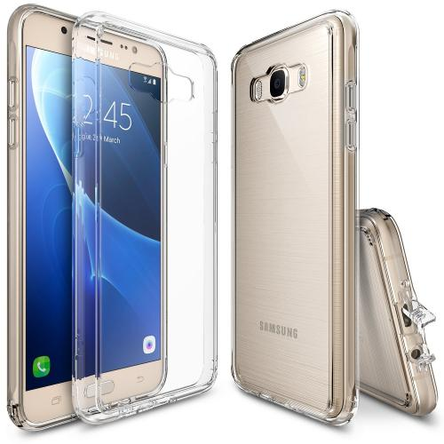Samsung Galaxy J7 Case, [Fusion][Clear View] Shock Absorption TPU Bumper Clear Hard Case