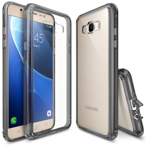 Manufacturers [Samsung Galaxy J7] Case, [Fusion][Smoke Black] Shock Absorption TPU Bumper Clear Hard Case Hard Cases