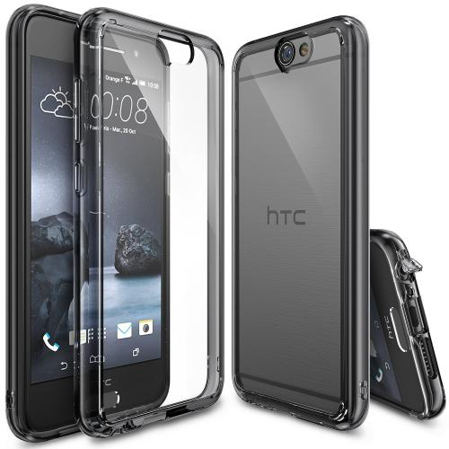 HTC One A9 Case, Ringke FUSION Series [Smoke Black] Shock Absorption Premium Clear Hard Case