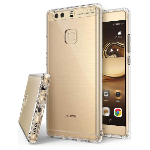 Huawei P9 Plus Case, Ringke [FUSION] Crystal Clear PC Back TPU Bumper [Drop Protection / Shock Absorption Technology] for Huawei P9 Plus - Clear