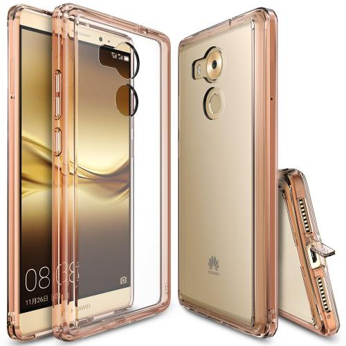 Huawei Mate 8 Case, Ringke [Rose Gold Crystal] FUSION Series Absorb Shock TPU Bumper Clear Case