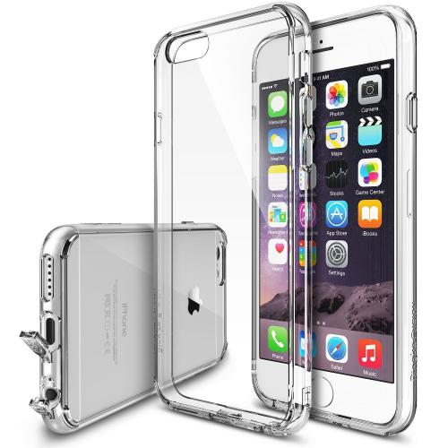 [Apple iPhone 6 PLUS/6S PLUS (5.5 inch)] Bumper Case by Ringke [Clear] Featuring Shock Absorption TPU Bumper with Crystal Clear Hard Polycarbonate Back & Screen Protector
