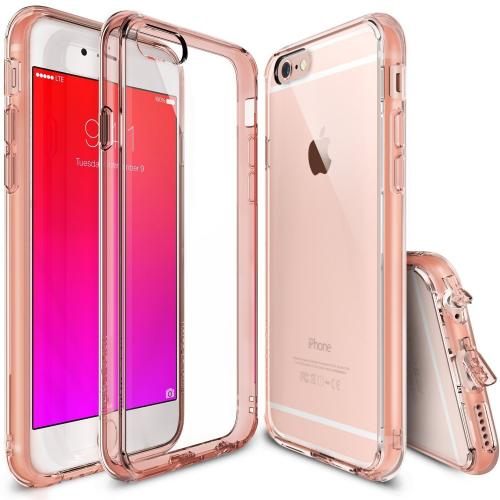 Apple iPhone 6 PLUS/6S PLUS (5.5 inch) Case, Ringke FUSION Shock Absorption Premium Clear Hard Case - Rose Gold Crystal