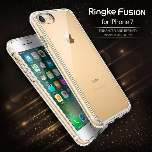 [Apple iPhone 7] Case, Ringke [FUSION] Shock Absorption TPU Bumper Clear Case