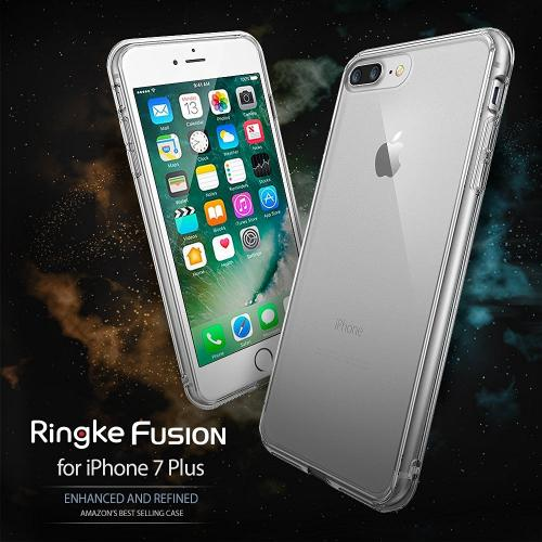 [Apple iPhone 7 Plus] Case, Ringke [FUSION] Shock Absorption TPU Bumper Clear Case