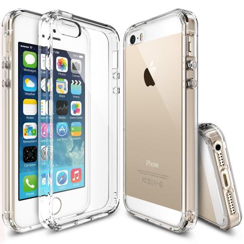 Apple iPhone SE / 5 / 5S Case, Ringke [Clear View] FUSION Series Crystal Clear PC Back TPU Bumper Case