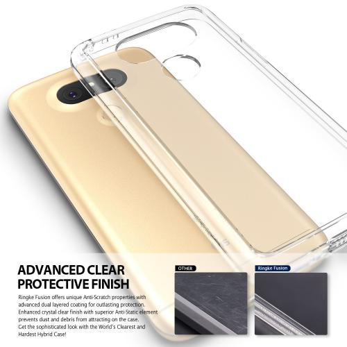 LG G5  Case, Ringke [Rose Gold Crystal] FUSION Series Crystal Clear PC Back TPU Bumper Case