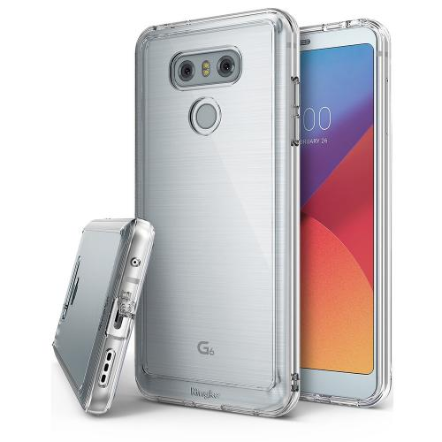 LG G6 Case, Ringke [FUSION] Crystal Clear PC Back TPU Bumper Drop Protection Cover - Clear