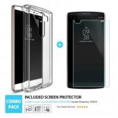 LG V10 Case, Ringke [Clear View] FUSION Series Shock Absorption Premium Clear Hard Case w/ Free Screen Protector