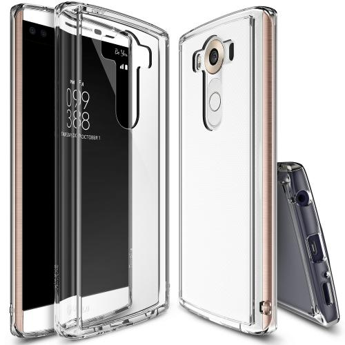 LG V10 Case, Ringke FUSION Series [Crystal View] Shock Absorption Premium Clear Hard Case