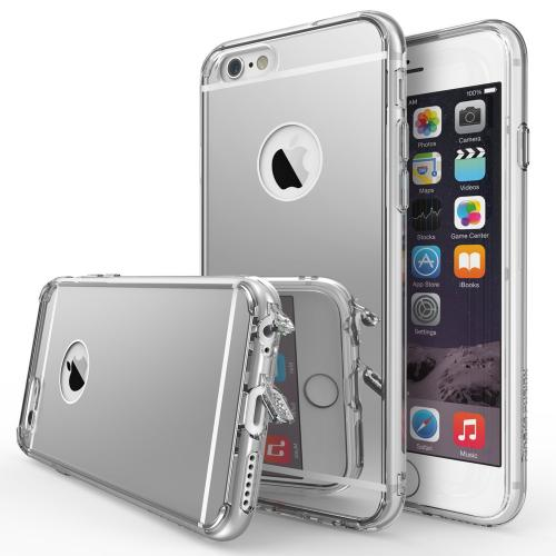 Apple iPhone 6 PLUS/6S PLUS (5.5 inch) Case, Ringke FUSION MIRROR [Clear View] [Dust Cap/Free Film] Shock Absorption Case