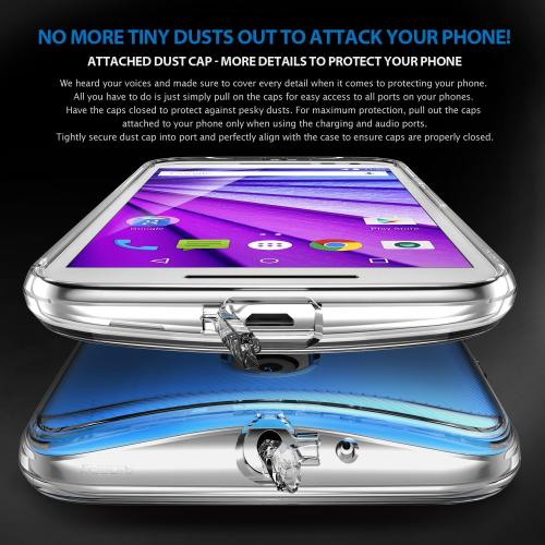 Moto G 3rd Gen 2015 Case, Ringke FUSION Series [Clear View] Shock Absorption Premium Clear Hard Case