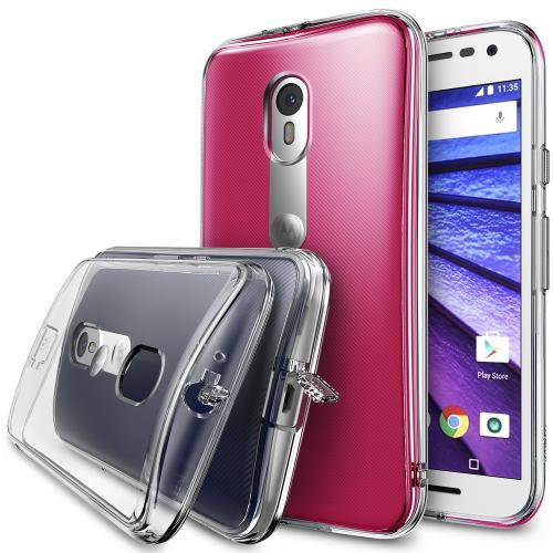 Moto G 3rd Gen 2015 Case, Ringke FUSION Series [Crystal View] Shock Absorption Premium Clear Hard Case