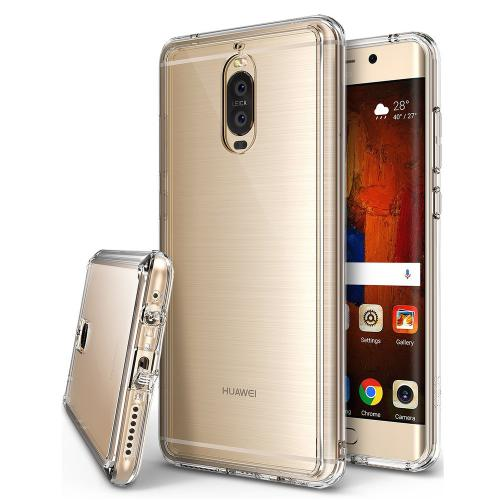 Huawei Mate 9 Pro Case, Ringke [FUSION] Crystal Clear PC Back TPU Bumper Drop Protection Cover - Clear
