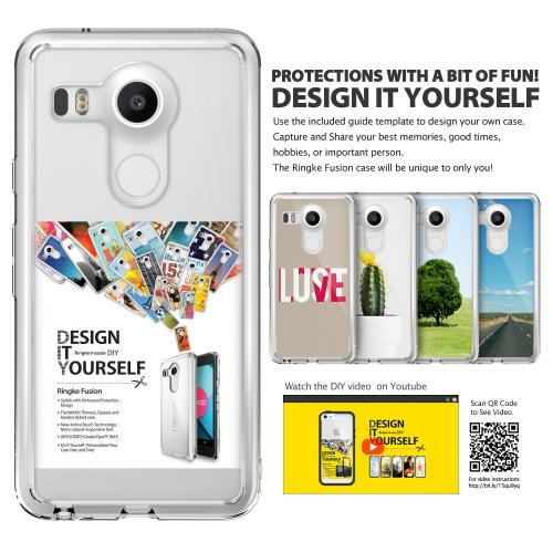 LG Google Nexus 5X Case, Ringke [Clear View] FUSION Series Shock Absorption Premium Clear Hard Case