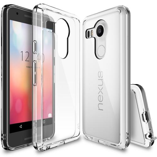 LG Google Nexus 5X Case, Ringke [Clear] FUSION Series Shock Absorption Premium Clear Hard Case