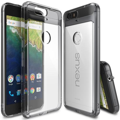 Nexus 6P Case, Ringke FUSION Series [Smoke Black] Shock Absorption Premium Clear Hard Case For Huawei Google Nexus 6P