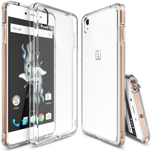 OnePlus X Case, Ringke FUSION Series [Clear] Shock Absorption Premium Clear Hard Case