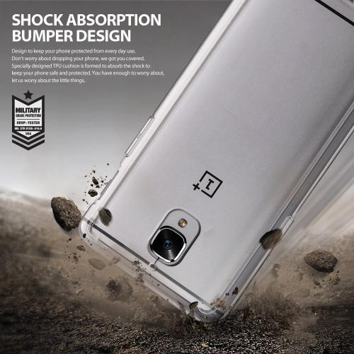 [OnePlus 3], Ringke [FUSION] Shock Absorption TPU Bumper Clear Case