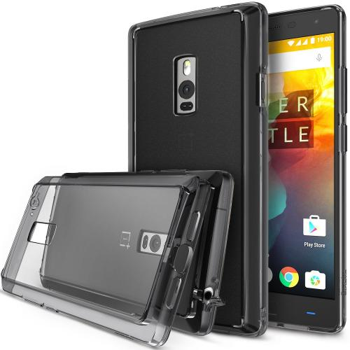 OnePlus Two Case, Ringke FUSION Series [Smoke Black] Shock Absorption Premium Clear Hard Case