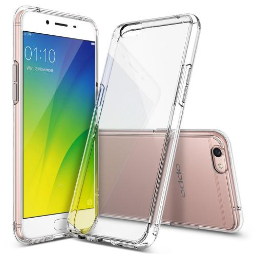 OPPO R9s Case, Ringke [FUSION] Crystal Clear PC Back TPU Bumper Drop Protection Cover - Clear