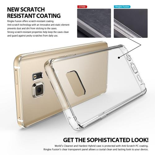 Samsung Galaxy Note 5, Ringke [Crystal] FUSION Series Full Top/ Bottom Coverage Dual Coated Hard Case