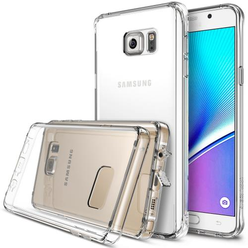[Samsung Galaxy Note 5] Case, Ringke [Clear] FUSION Series Full Top/ Bottom Coverage Dual Coated Hard Case