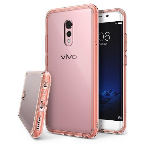 Vivo Xplay 6 Case, Ringke [FUSION] Crystal Clear PC Back TPU Bumper Drop Protection Cover - Rose Gold