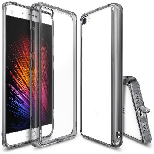 Xiaomi Mi 5 Case, Ringke [Smoke Black] FUSION Series Shock Absorption TPU Bumper Clear Hard Case