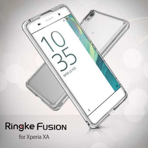 Sony Xperia X Case, Ringke [FUSION] Shock Absorption TPU Bumper Clear Case