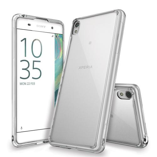 [Sony Xperia X] Case, Ringke [FUSION] Shock Absorption TPU Bumper Clear Case