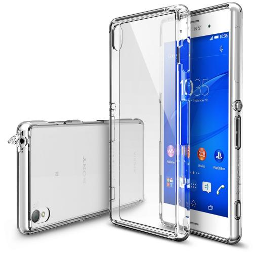 Sony Xperia Z3+ Case - Ringke FUSION Series [Crystal] Shock Absorption Bumper Premium Hybrid Hard Case
