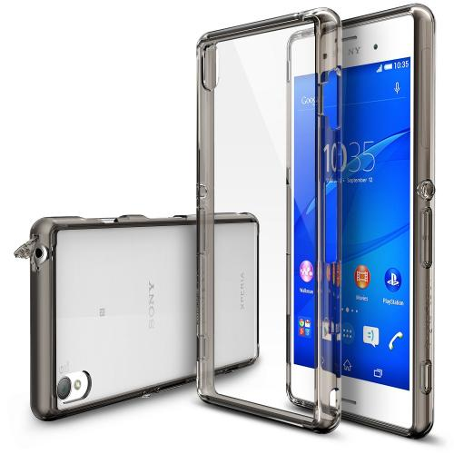 Sony Xperia Z3+ Case - Ringke FUSION Series [Smoke Black] Shock Absorption Bumper Premium Hybrid Hard Case