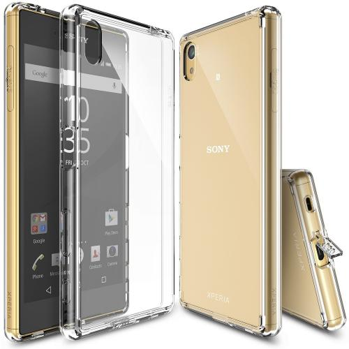 Sony Xperia Z5 Case, Ringke FUSION Series [Clear View] Shock Absorption Premium Clear Hard Case