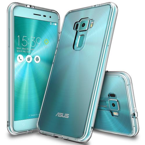 [Asus Zenfone 3]  Case, Ringke [Clear] FUSION Crystal Clear PC Back TPU Bumper [Drop Protection/Shock Absorption Technology] Raised Bezels Protective Cover