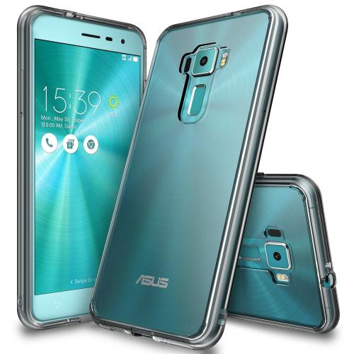 [Asus Zenfone 3]  Case, Ringke [Smoke] FUSION Clear PC Back TPU Bumper [Drop Protection/Shock Absorption Technology] Raised Bezels Protective Cover