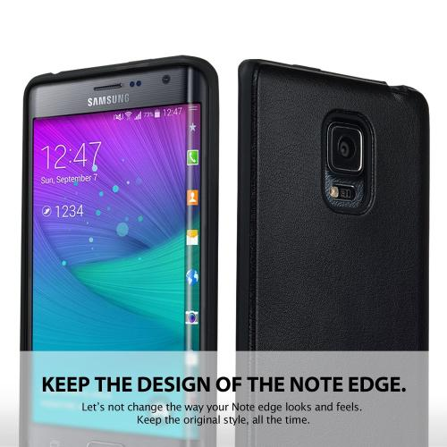 Galaxy Note Edge TPU Case by Ringke [Black] FLEX Series Featuring Flexible Crystal Silicone TPU [Free HD Screen Protector]