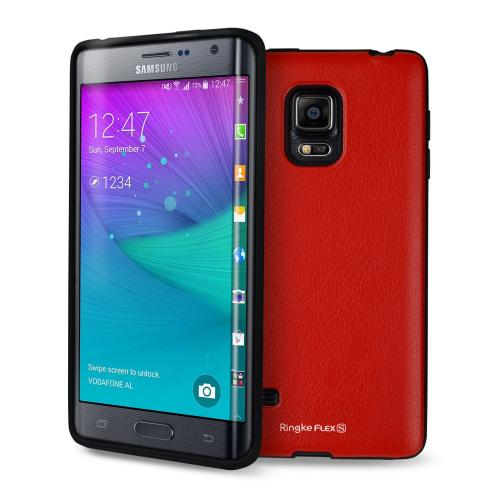 Ringke Red FLEX Series Flexible TPU Protective Skin Case for Samsung Galaxy Note Edge