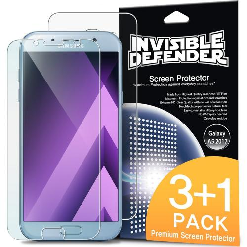 Samsung Galaxy A5 2017 Screen Protector, Invisible Defender [4-Pack / Perfect HD Clearness] All Case Compatible Touch Precision Clear Film