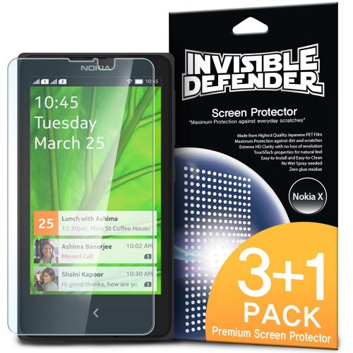 Ringke Invisible Defender 4-Pack Premium HD Crystal Clear Screen Protector for Nokia X