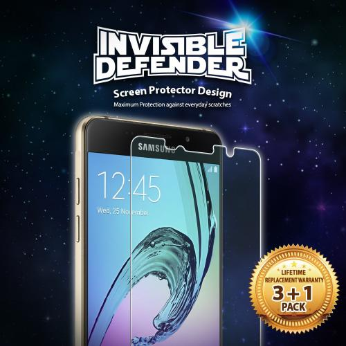Galaxy A3 2016 Screen Protector - Invisible Defender [3 Front+1 Free] for Samsung Galaxy A3 2016